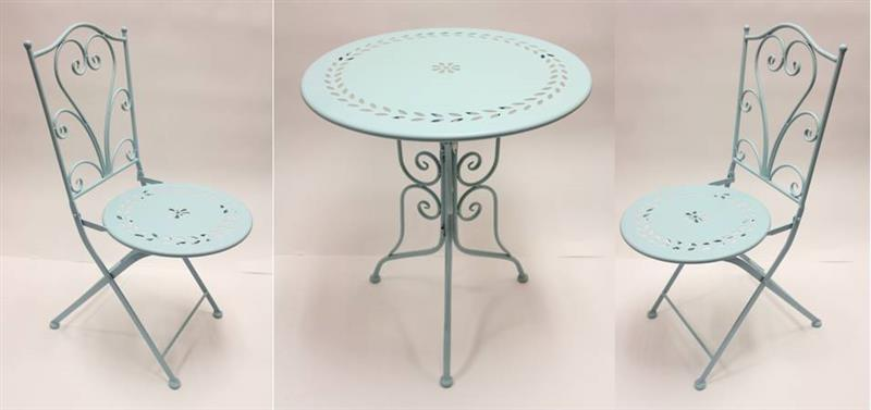 Robin Egg Blue Bistro Set