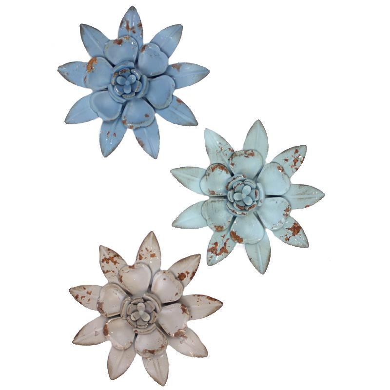 Flowers Wall Decor 3 Assorted