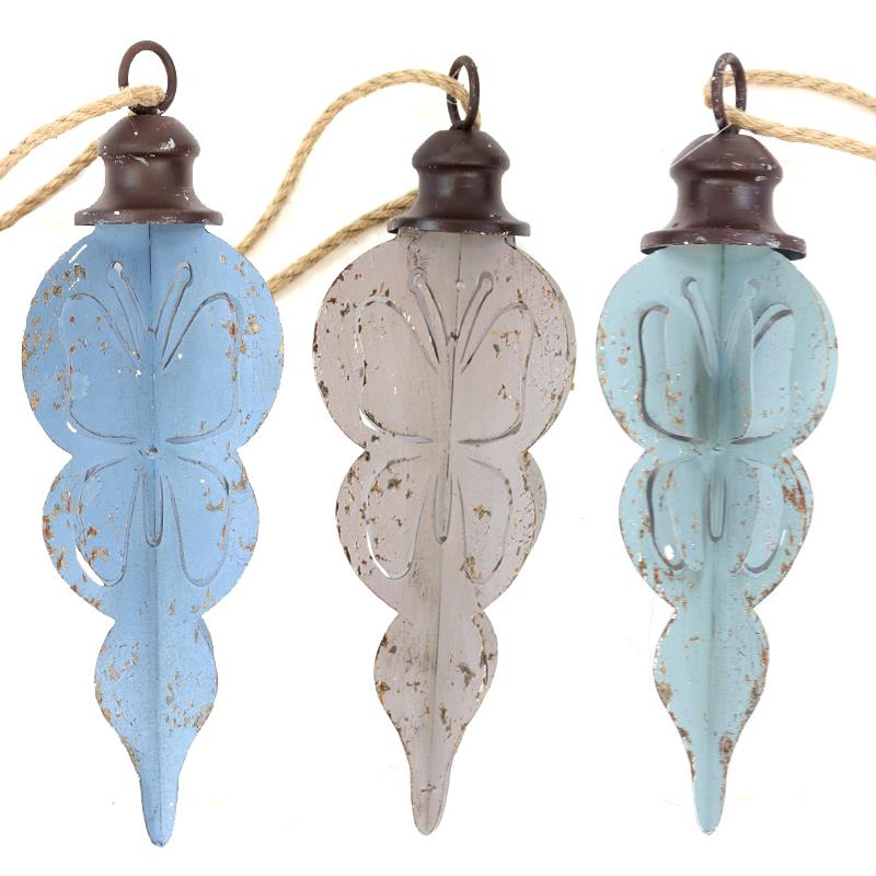 Butterfly Ornaments 3 Assorted