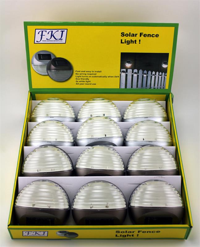 Solar Fence Lights 2 Assorted