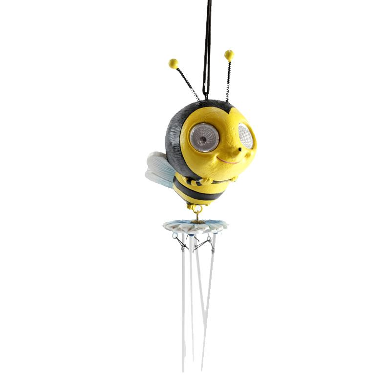 Bee Wind Chime Solar