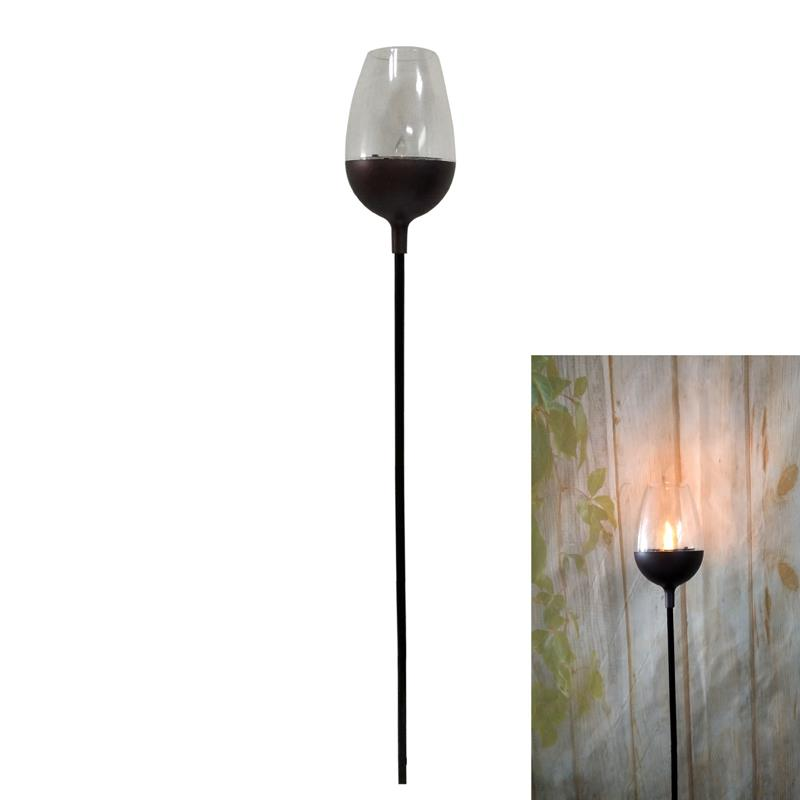 Solar Wine Glass Garden Torch=