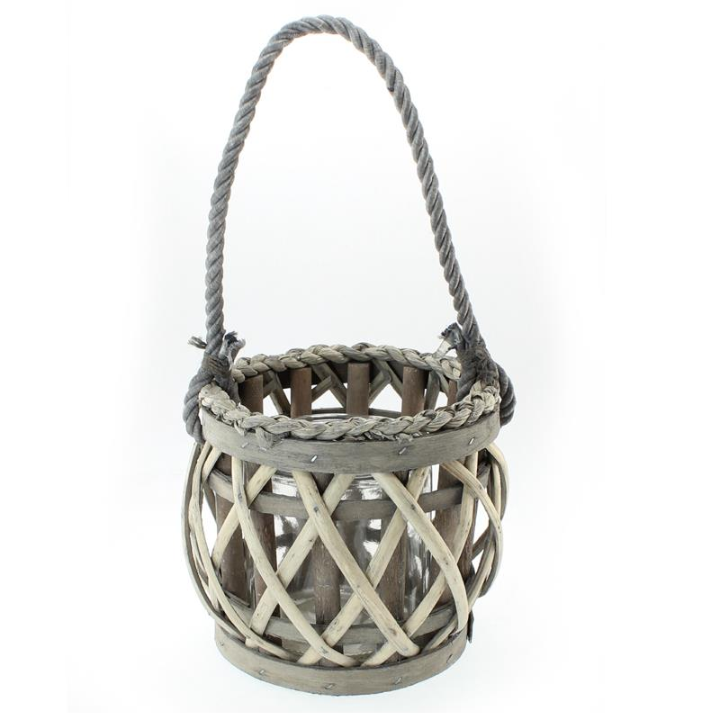 Willow Candle Lantern Round