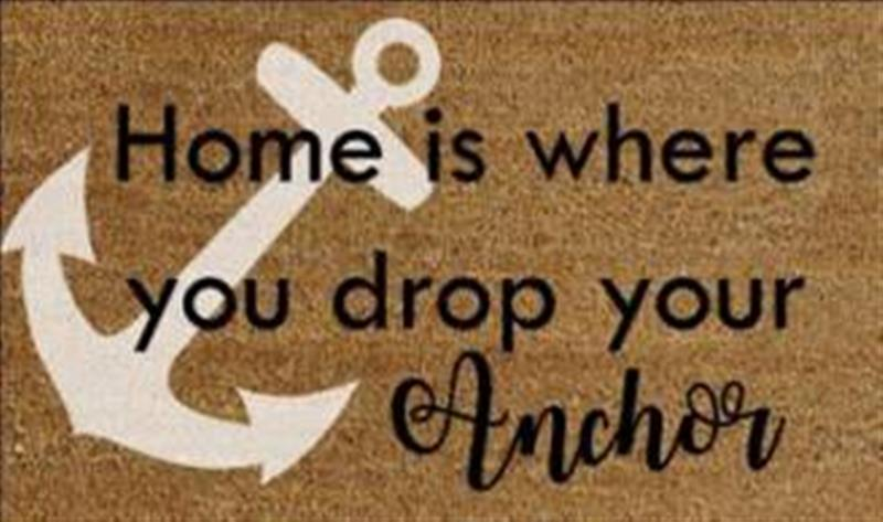 Drop Your Anchor Here DoorMat