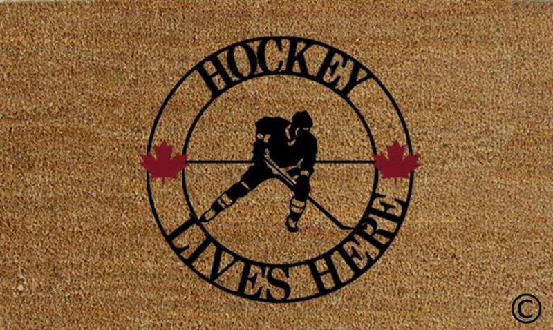 Hockey Lives Here DoorMat