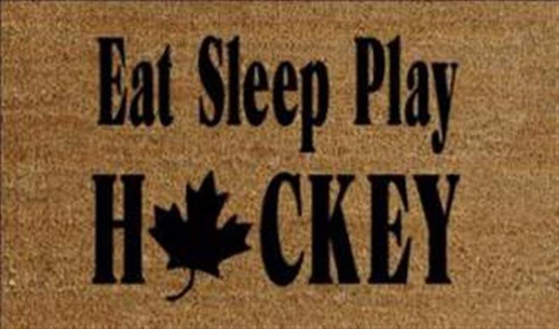 Eat Sleep Play Hockey Doormat