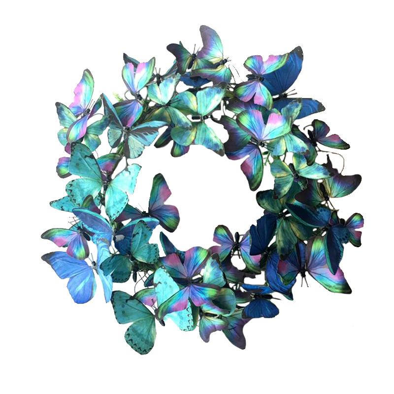 Lg Blue Paper Butterfly Wreath
