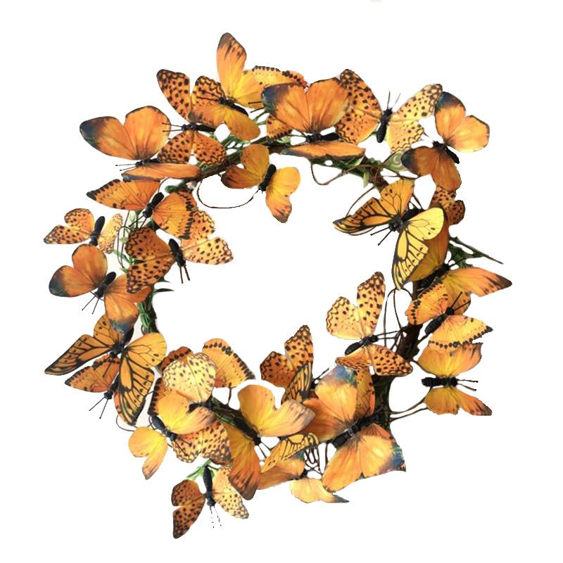 Med Monarch Paper Wreath