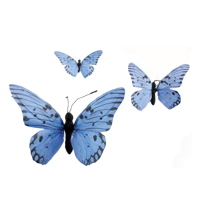 Paper Butterfly Set of 3 Blue