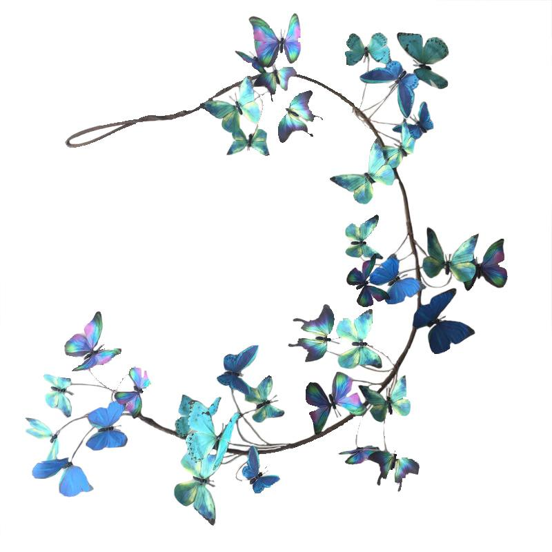 Paper Butterfly Garland Blue