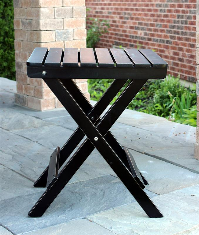 Black Patio Side Table