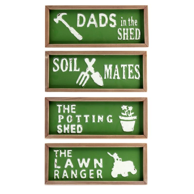 4 Assorted Garden Signs