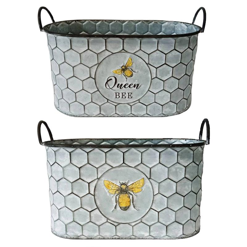 Set of 2 Bee Containers