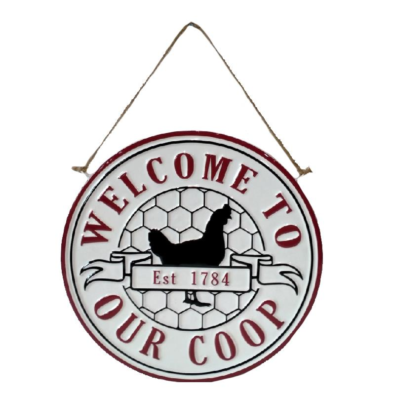Welcome Coop Sign