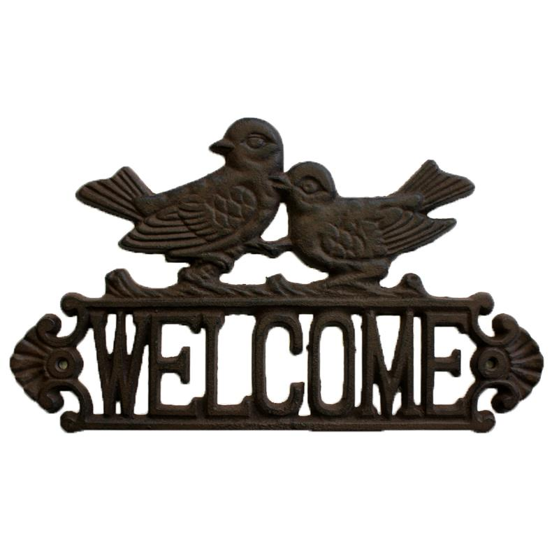 Welcome Bird Sign =