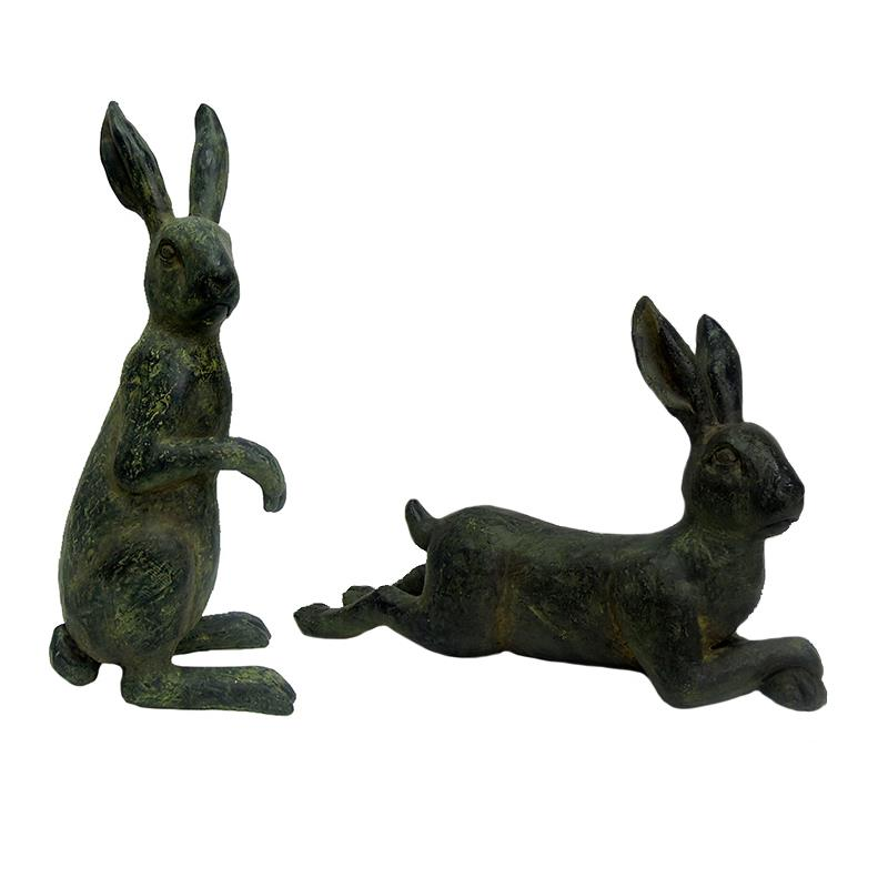 Hare Statues 2 Assorted