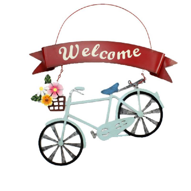 Welcome Bicycle Sign