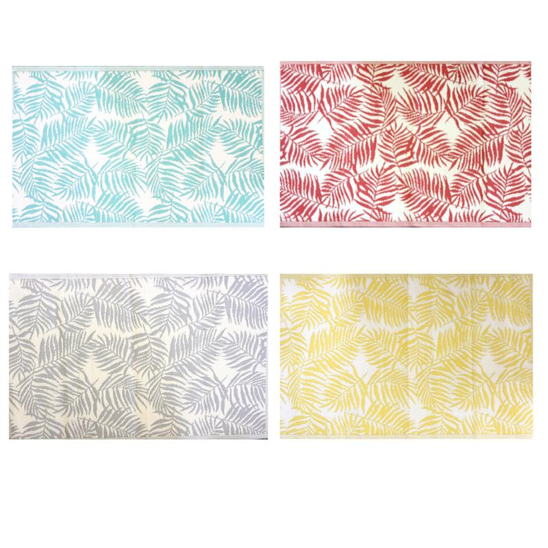 Outdoor Leaf Rugs 4 Assorted