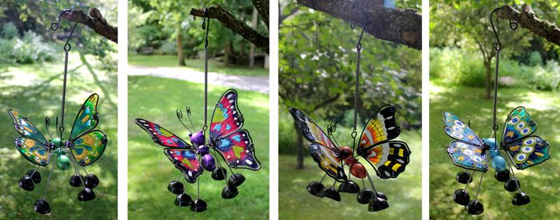 Butterfly Danglers 4 Assorted