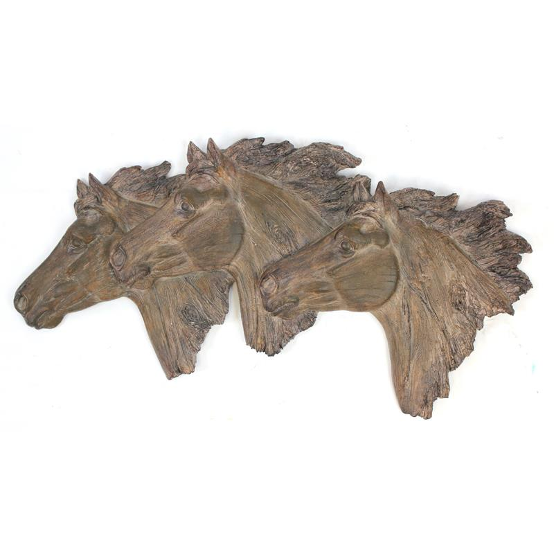 3 Horse Head Wall Plaque