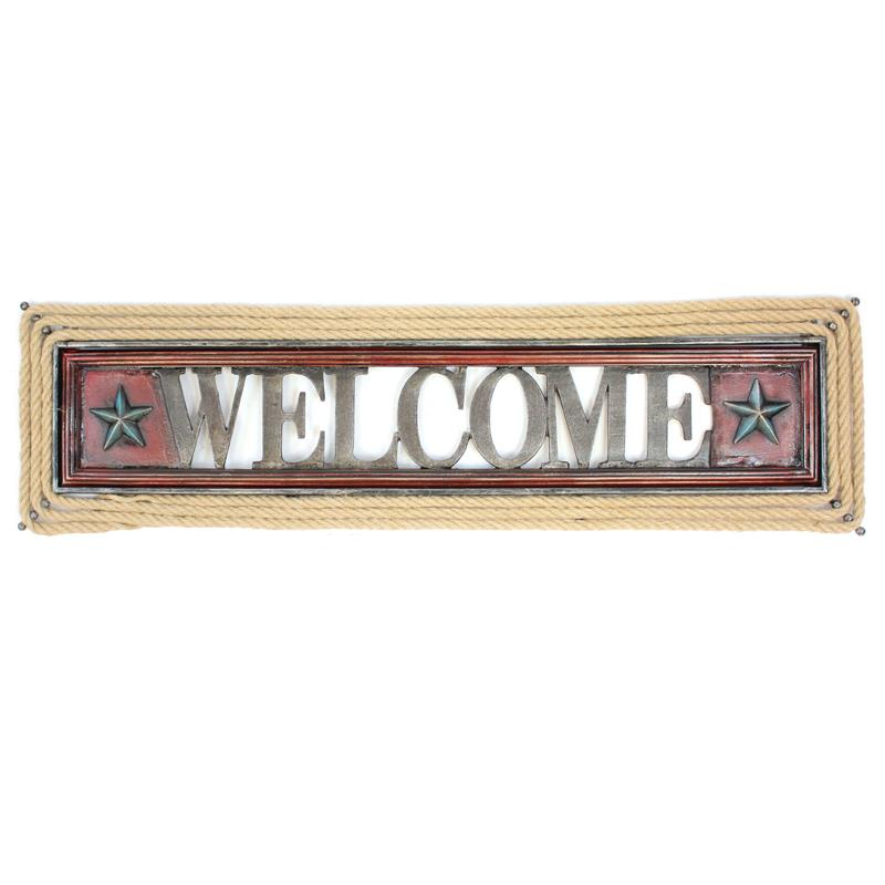 Welcome Sign Rope & Stars