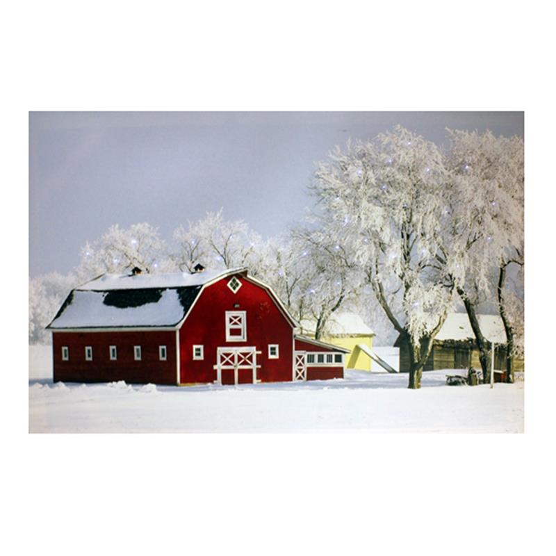 Barn Scene Canvas Fibreoptic