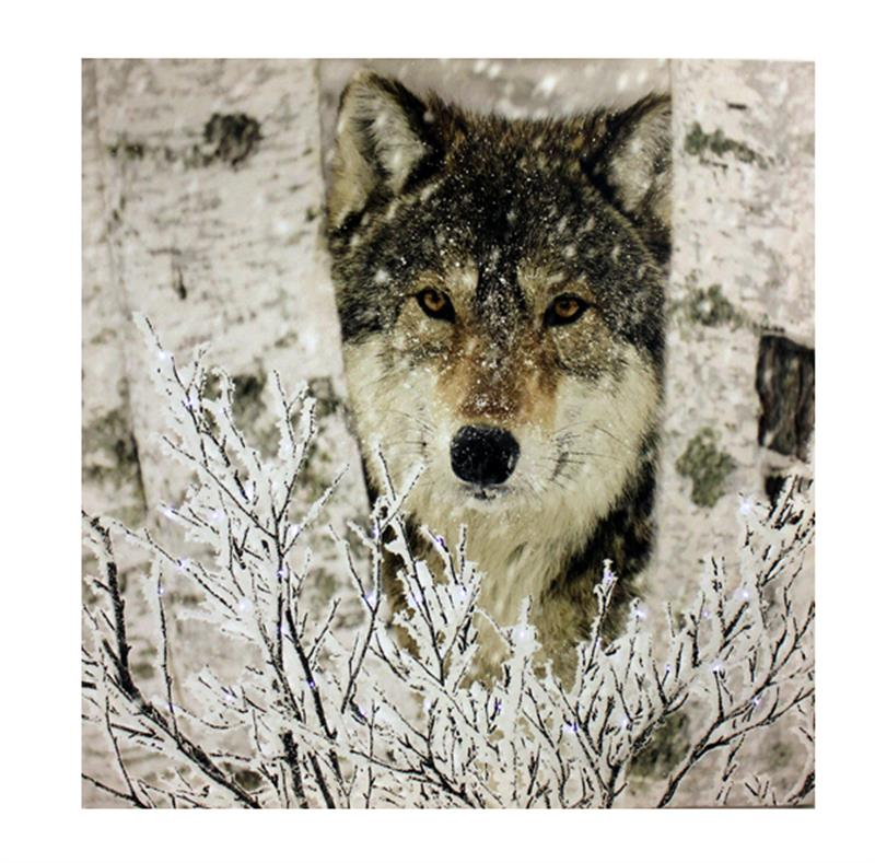Wolf Canvas Fibreoptic