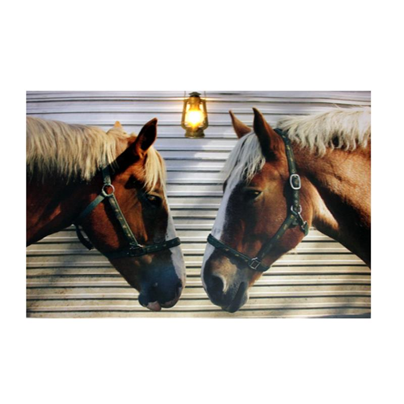 LED Horse Scene Canvas
