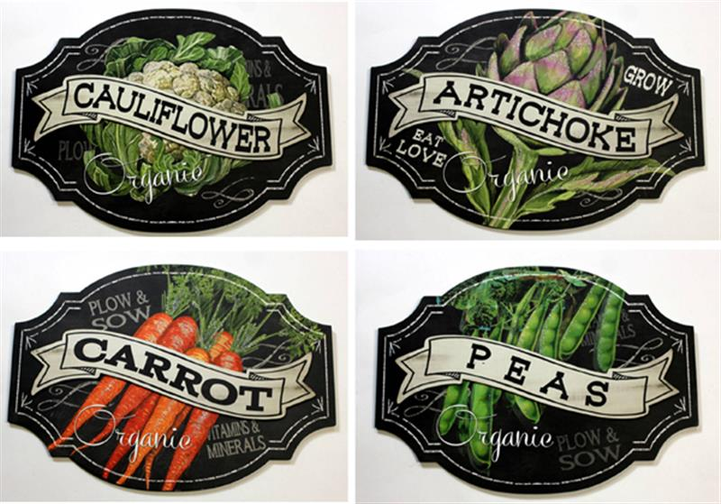 Vegtable Plaque 4 Assorted
