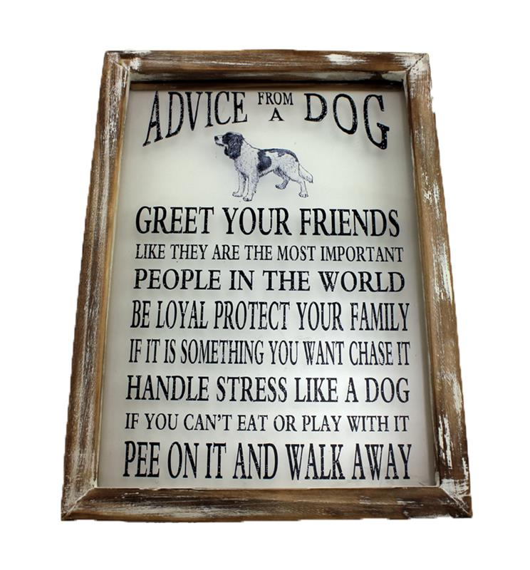 Window Plaque Advice from Dog
