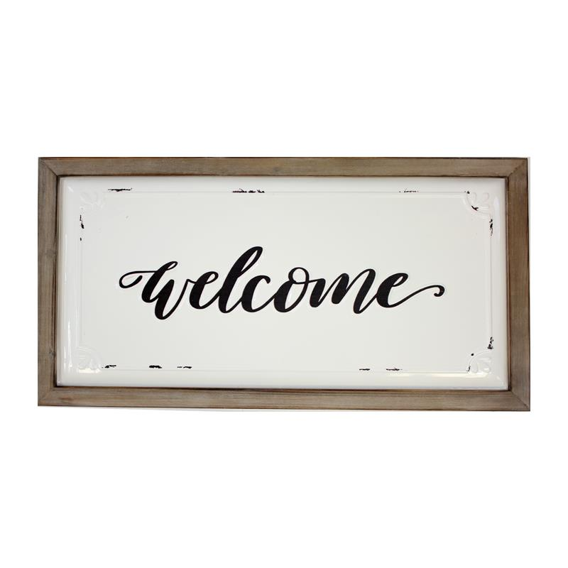 Enamel Farmhouse Welcome Sign