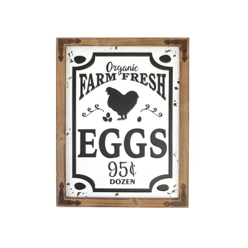 Enamel Farm Fresh Eggs Sign