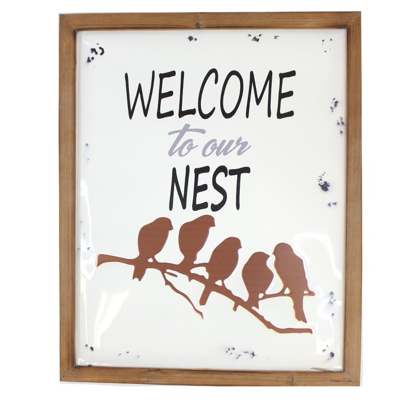 Enamel Welcome Nest Sign