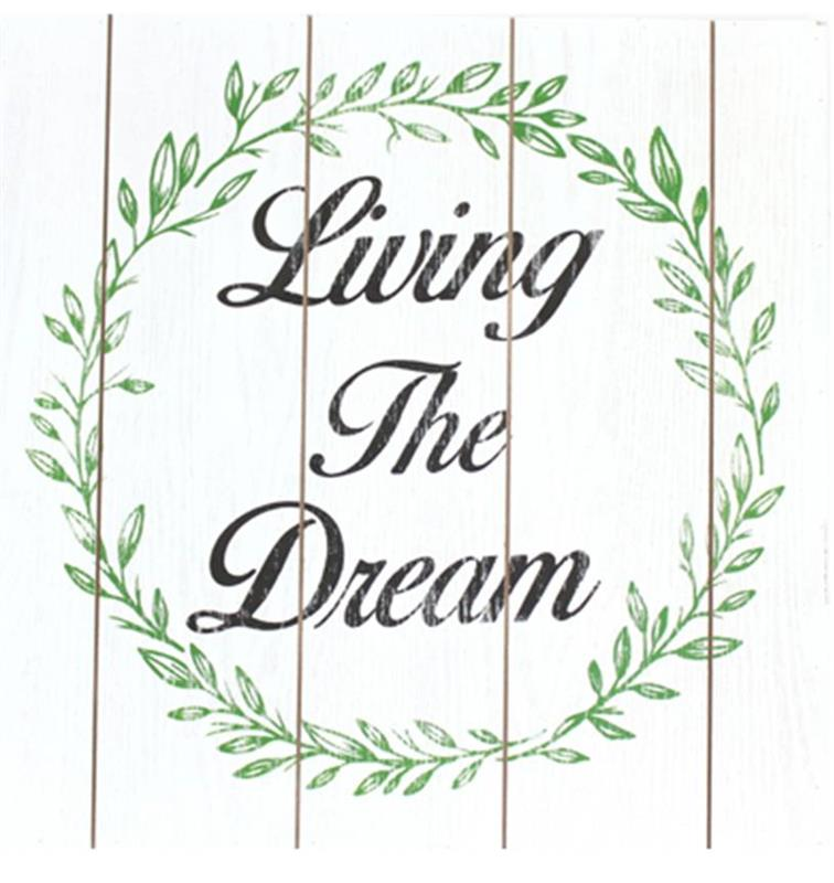 Living The Dream Wall Plaque