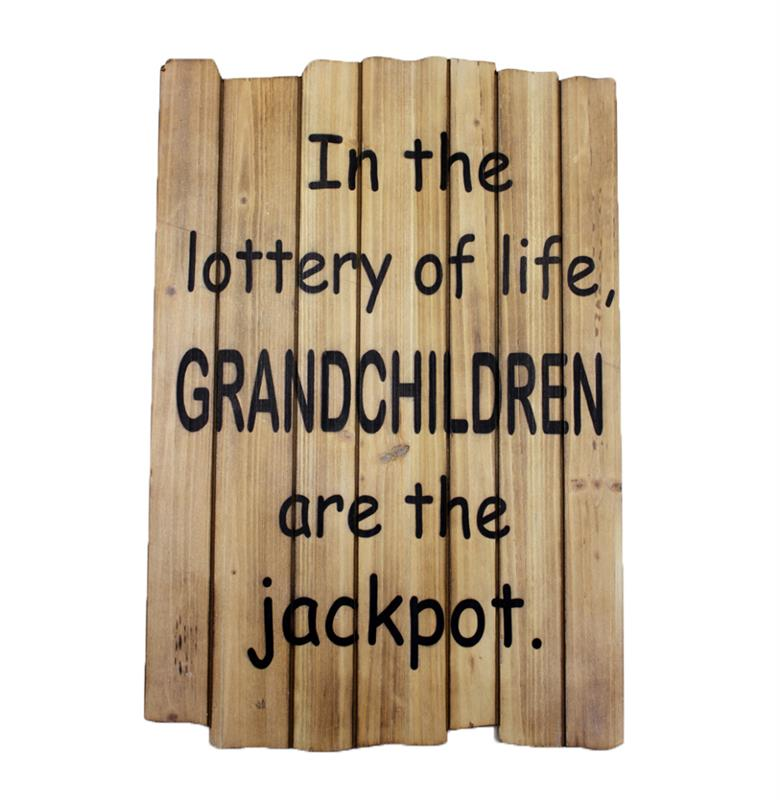 Grandchildren Lottery Sign