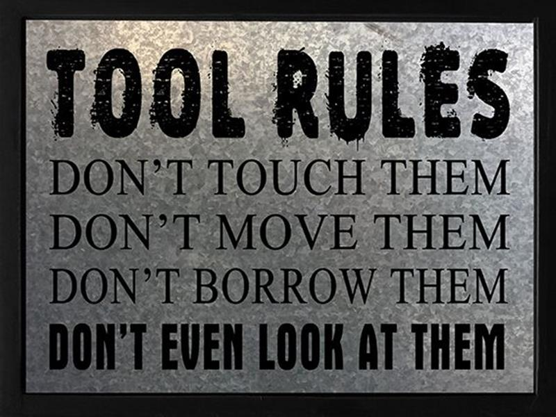 Tool Rules Plaque*