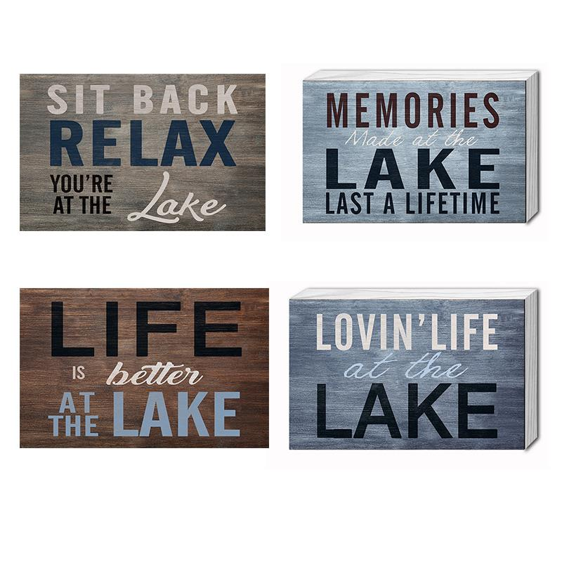 Lake Plaques 4 Assorted
