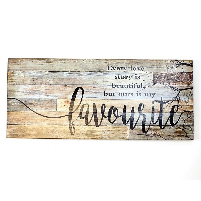 Love Story Plaque