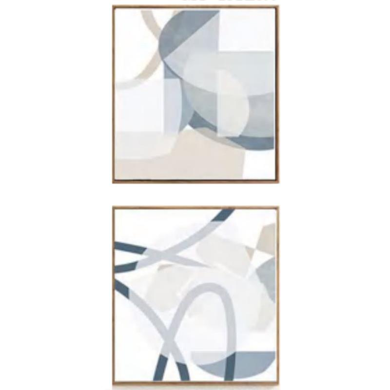 Set of 2 Abstract Canvas Print