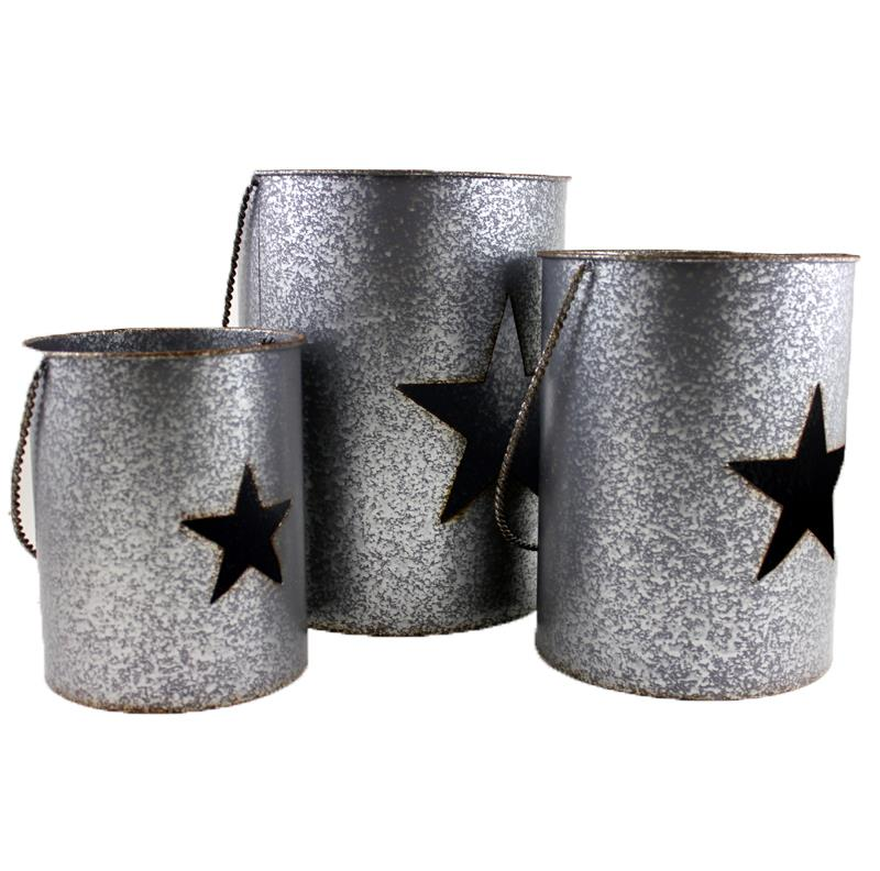 Set of 3 Star Candle Pots