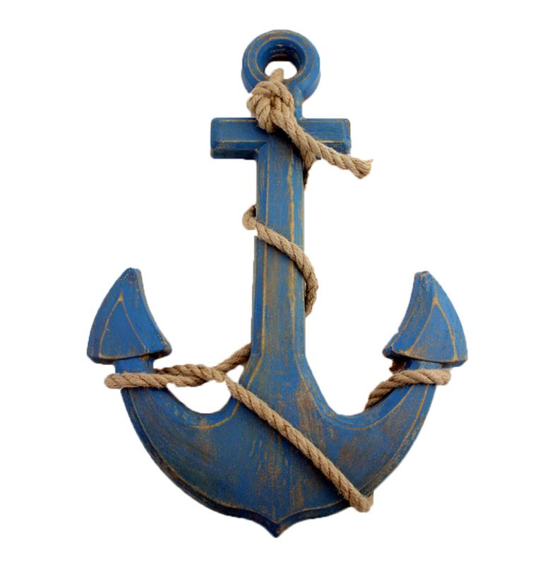 Anchor With Ropes Decor