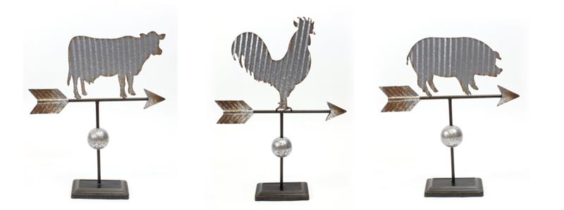 Farm Animal Weather Vanes 3 As