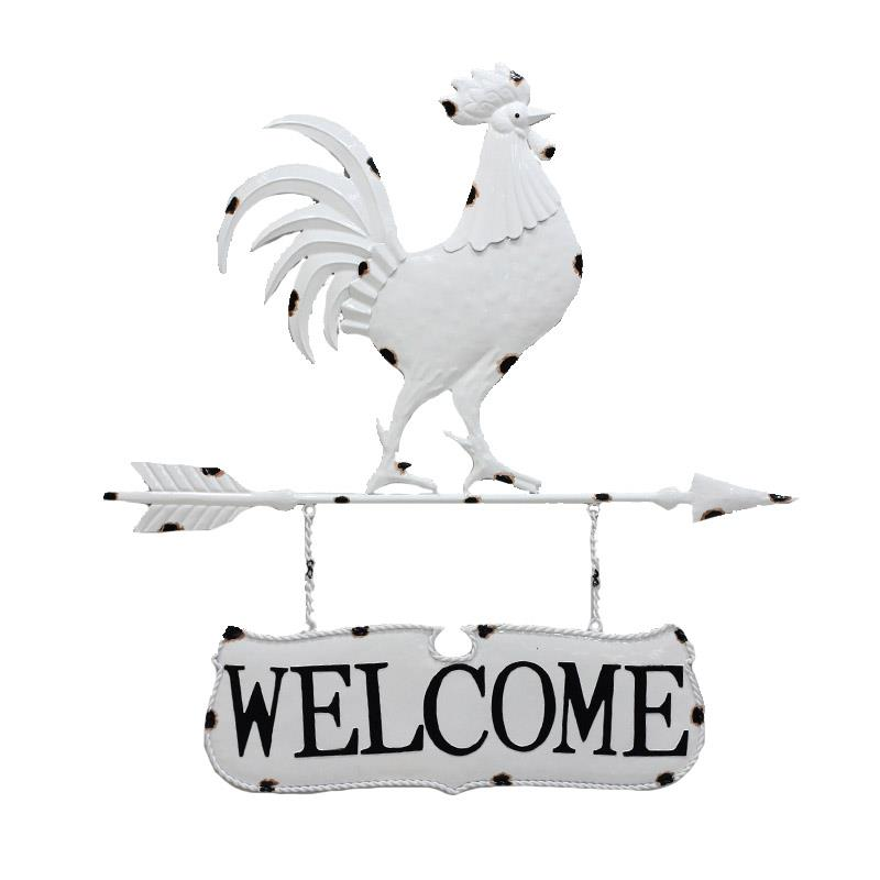 Rooster Welcome Wall Decor