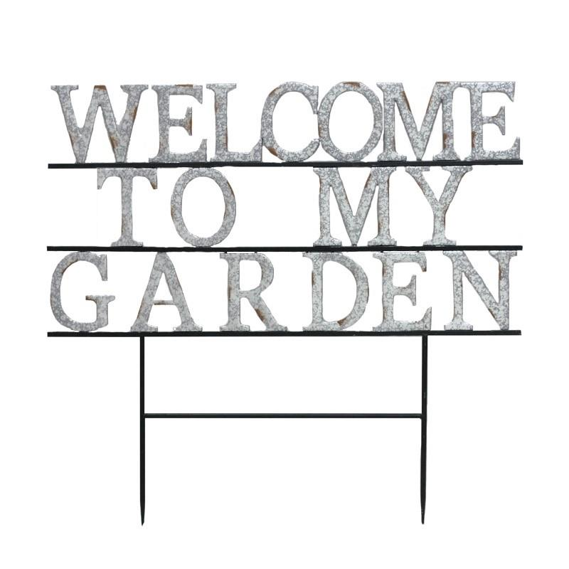 Welcome To My Garden Stake