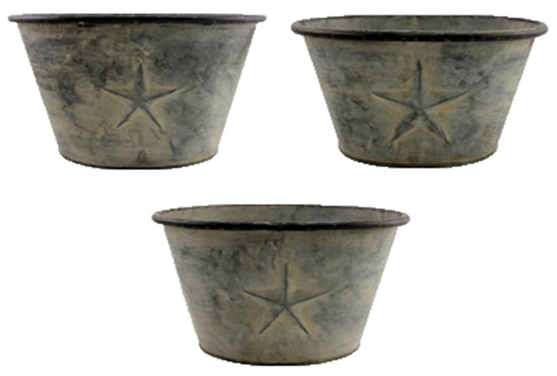Set of 3 Oval Star Planters