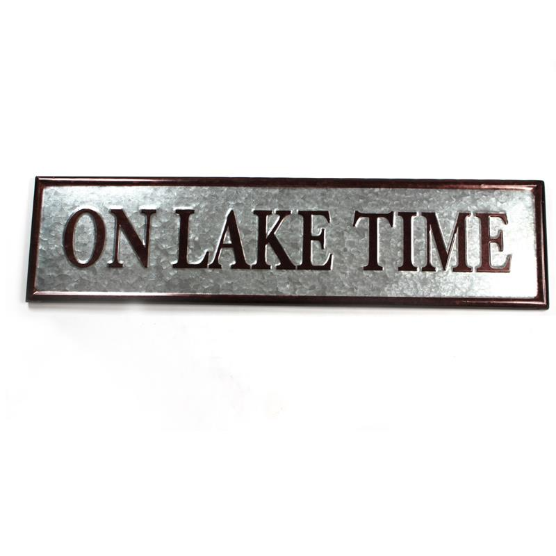 On Lake Time Sign
