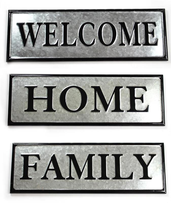 Welcome Home Family Signs