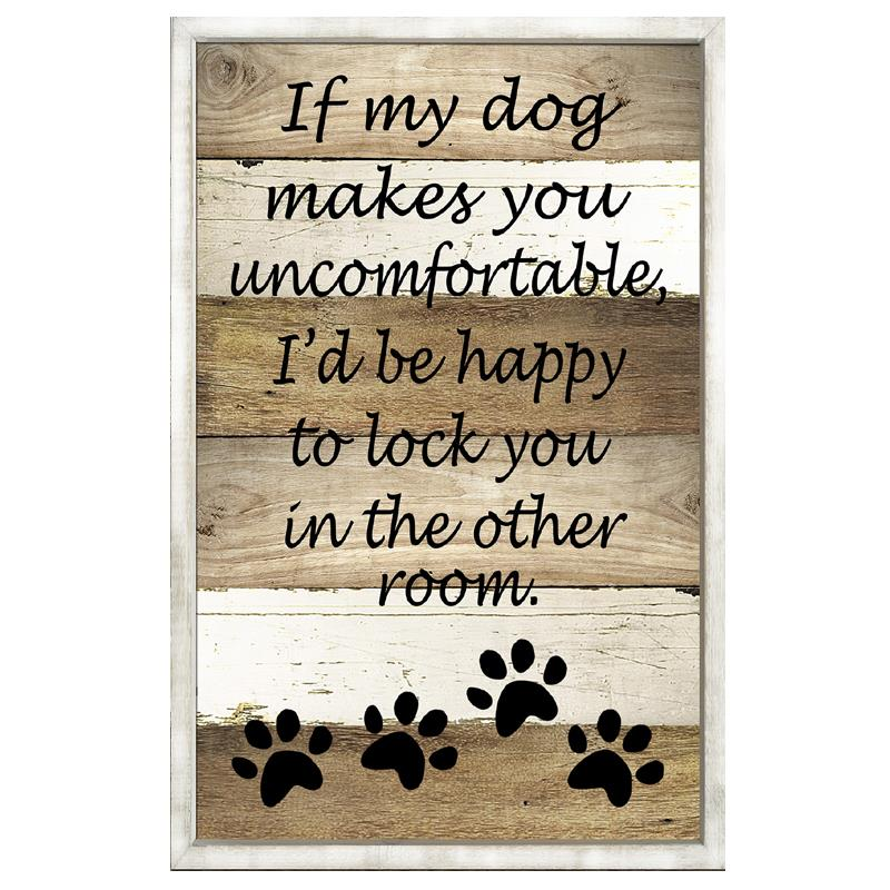 If My Dog Plaque
