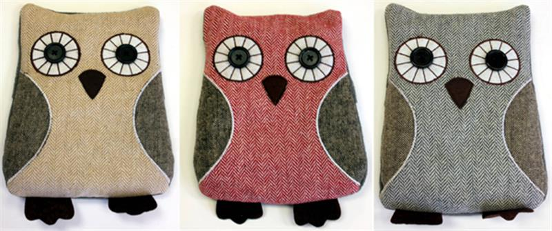 Owl Warm Pillows 3 Assorted