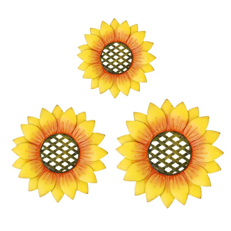 Set of 3 Sunflower Wall Decor